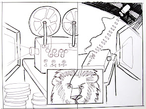 Photo: Another product Sony was developing was satellite viewing of movies. This was my rough sketch for that slide.