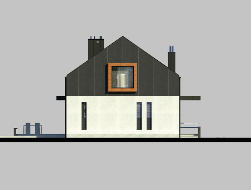 LIM House 03 - Elewacja lewa