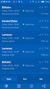 Bitmap - Bitcoin ATM map screenshot