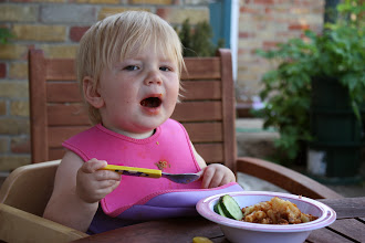 Photo: Holly LOVED her pasticcio and there was nothing left by the end of the meal.