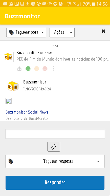 Buzzmonitor- screenshot
