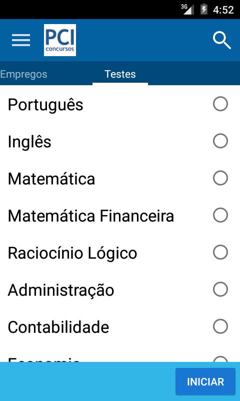 PCI Concursos - screenshot