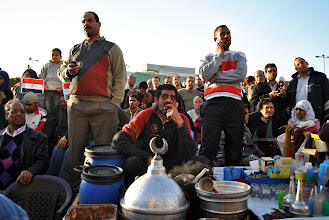 Photo: A vendor in Tahrir Square.