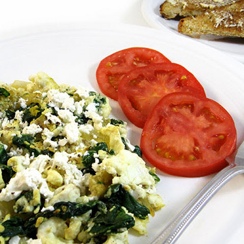 Low Calorie Egg White Scramble With Spinach and Onions