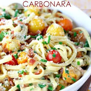 Tomato Bacon Carbonara.