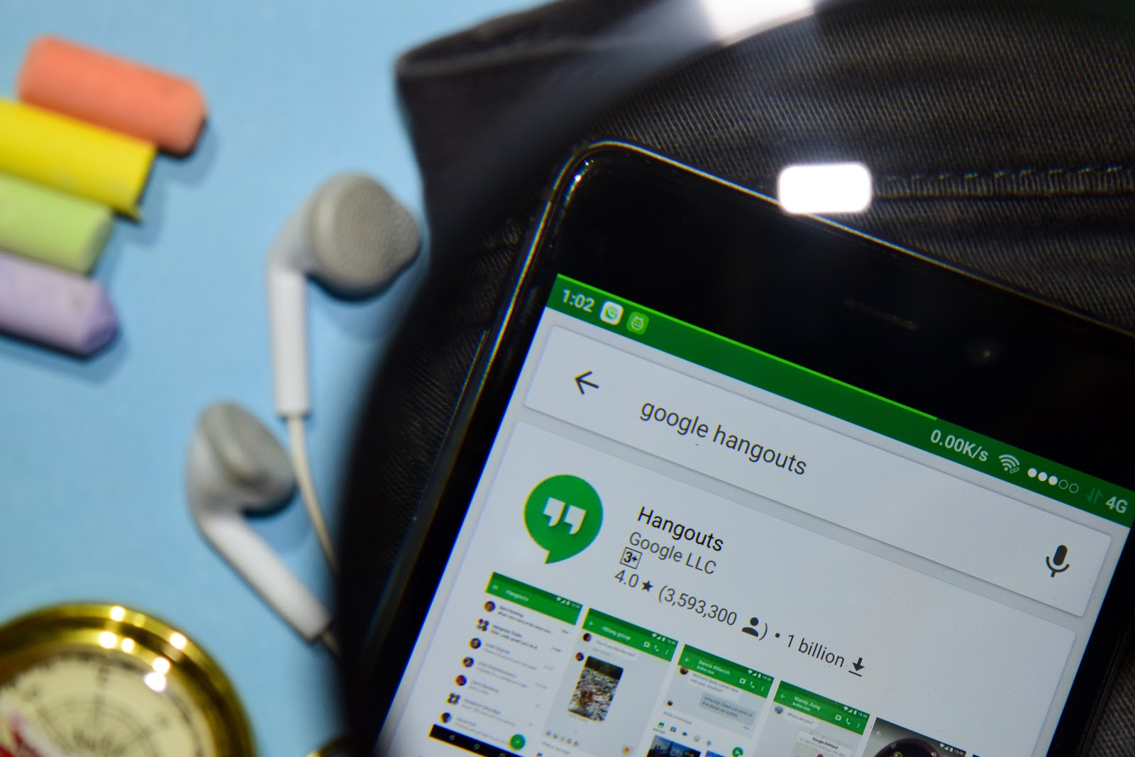 Google Hangouts in phone