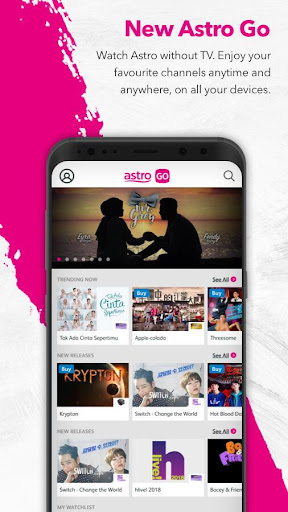 Astro GO - Watch TV Shows, Movies & Sports LIVE 8.2.6 screenshots 1