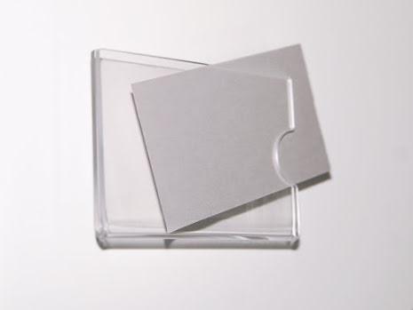 Visitkortshållare, namnskylt till dörr 90x55mm, inkl häftkuddar