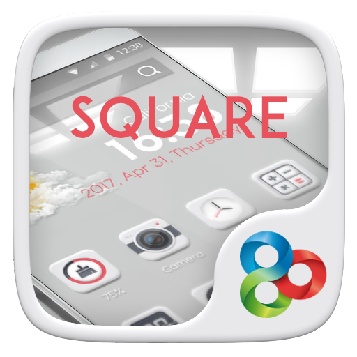 Square GO Launcher Theme