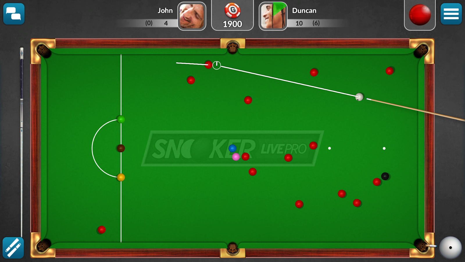 Snooker Live Pro & Six-red- screenshot