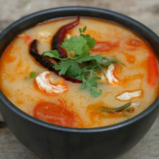 Hot and Sour Soup with Shrimp.