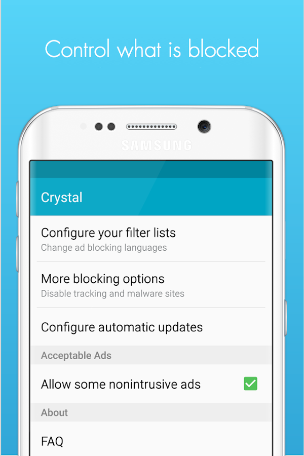 Crystal Adblock for Samsung- screenshot
