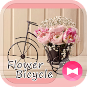 Cute Wallpaper Flower Bicycle