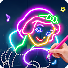 Learn To Draw Glow Princess icon