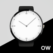 White Classic Watch Face