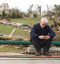 Photo: 05252011CNNJoplin Tornado 2011JOPLIN, MO - MAY 25, 2011: CNN Anchor Anderson Cooper broadcasting from the tornado destruction in Joplin, Missouri on May 25, 2011 (photo by David S. Holloway/CNN)
