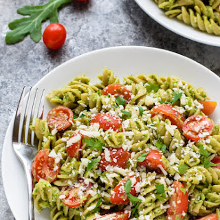 Spicy Avocado Pesto Pasta