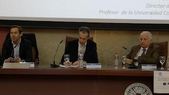 Óscar Pirelli, a la izquierda, junto a Jerónimo de Burgos y José María Rosell.
