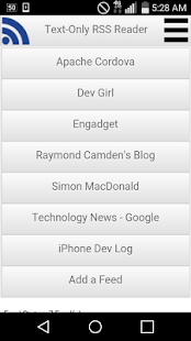 Text-Only RSS Reader- screenshot thumbnail
