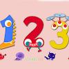 أطفال تعلم الألوان رسائل أرقام مع قرد
