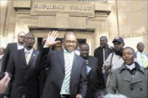 READY TO TALK: SABC chief executive Dali Mpofu leaves the Johannesburg high court yesterday after a hearing into his suspension by the broadcaster's board. Pic. Lucky Nxumalo. 24/06/08. © Sowetan.