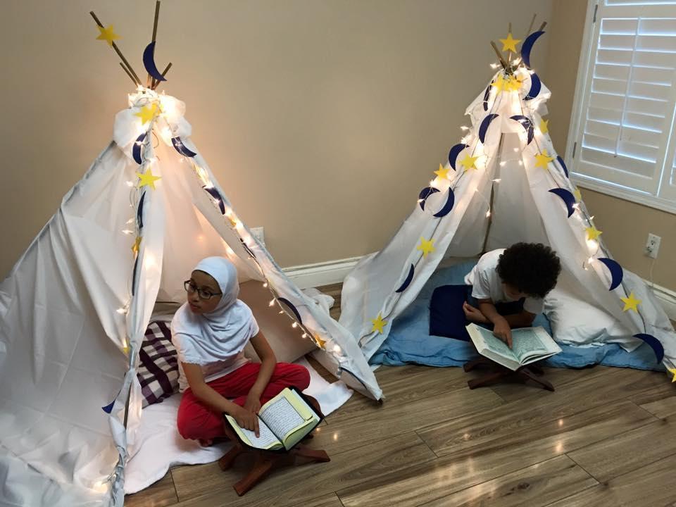 رمضان, أنشطة منزلية, أطفال, شهر رمضان, تربية, دين, خيمة الاعتكاف