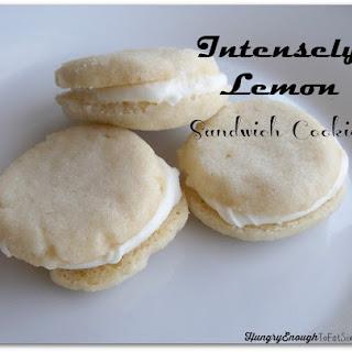 Intensely Lemon Sandwich Cookies.