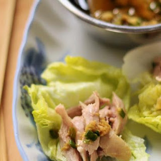 Steamed Chicken With Soy-Ginger Sauce