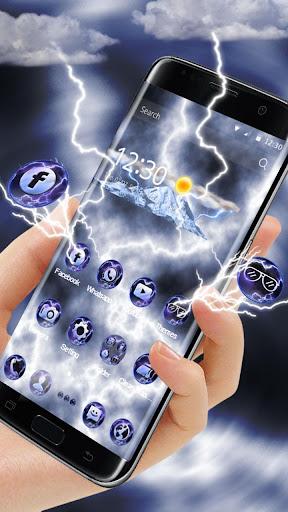 Download 3D Lightning Thunder Theme For PC
