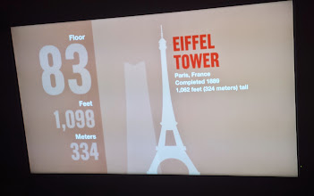 Photo: At the 83rd floor we were passing the height of the Eiffel Tower