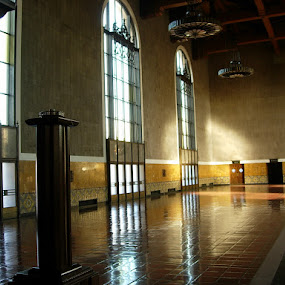 by Paul Stanley - Buildings & Architecture Other Interior ( reflection, los angeles, union station, art deco, light,  )