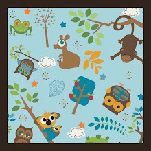 Photo: Hooty Zoo *Simon*Special Note * would look good on espresso, khaki, or black straps ** VERY hard to find fabric