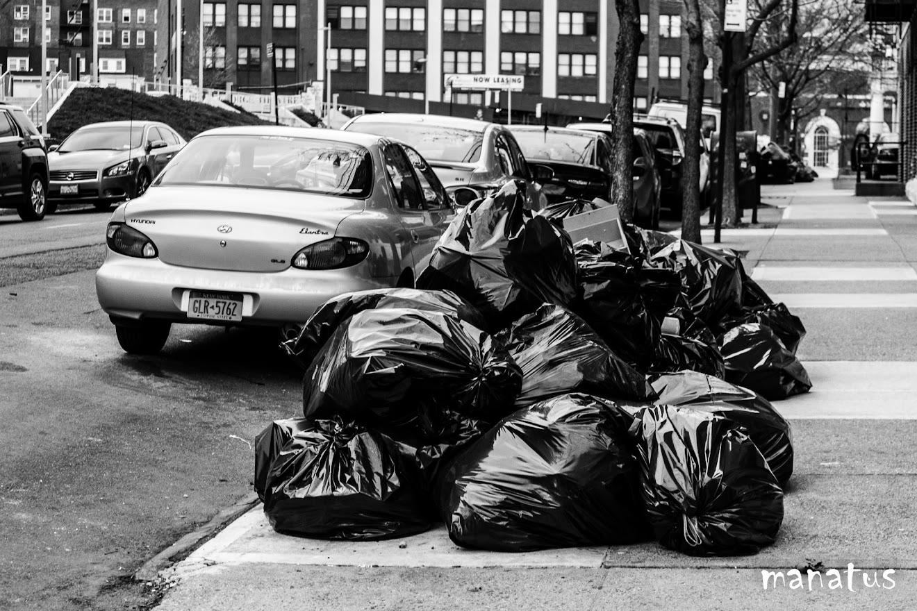 la basura por las calles de staten island