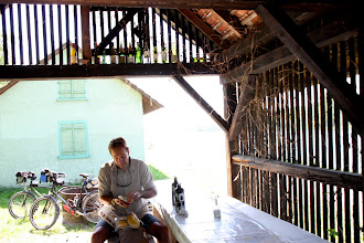 Photo: Day 28 - Lunch in the Shade of an Old Barn on the Rhine