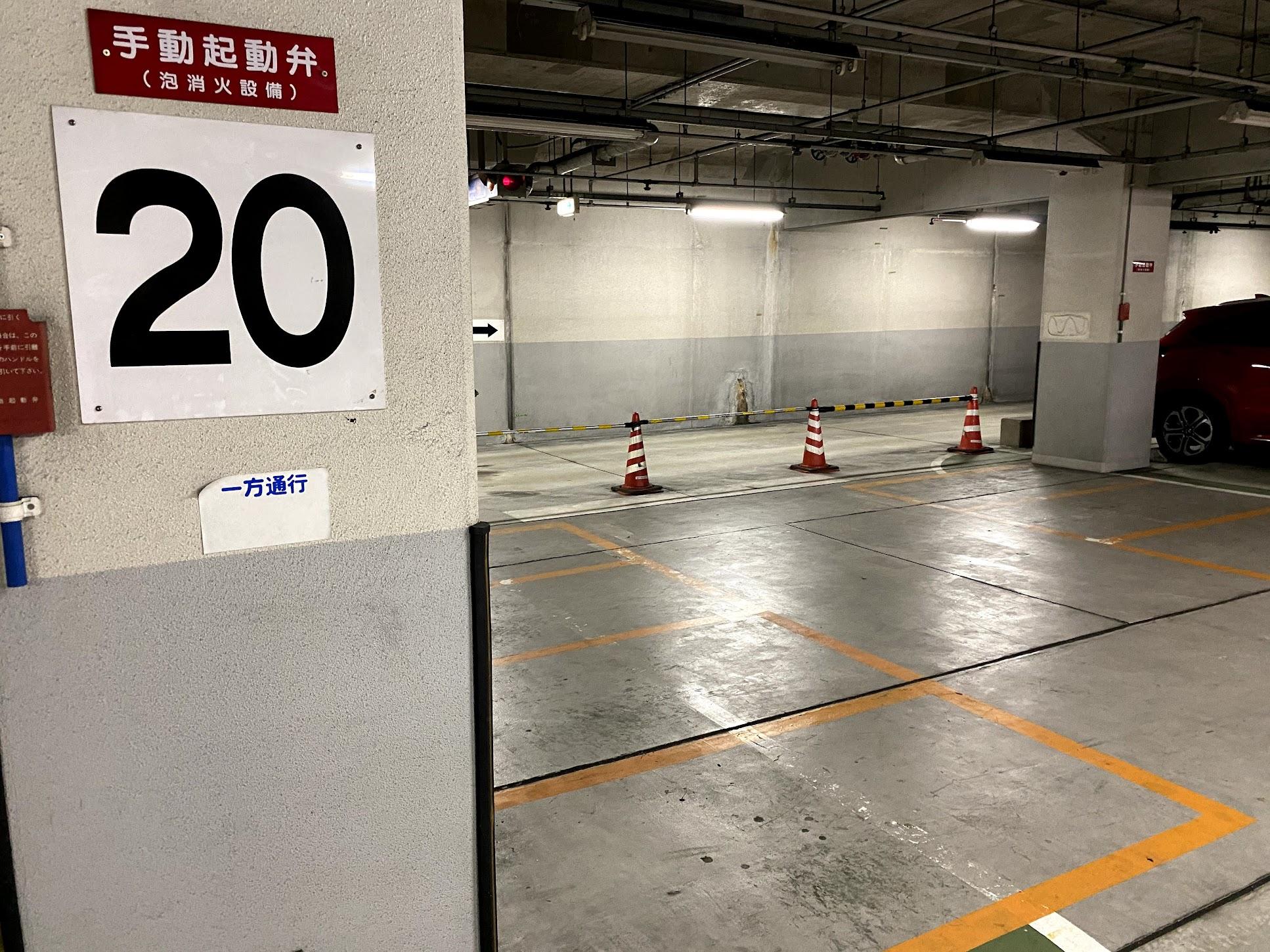 自動二輪駐車スペース