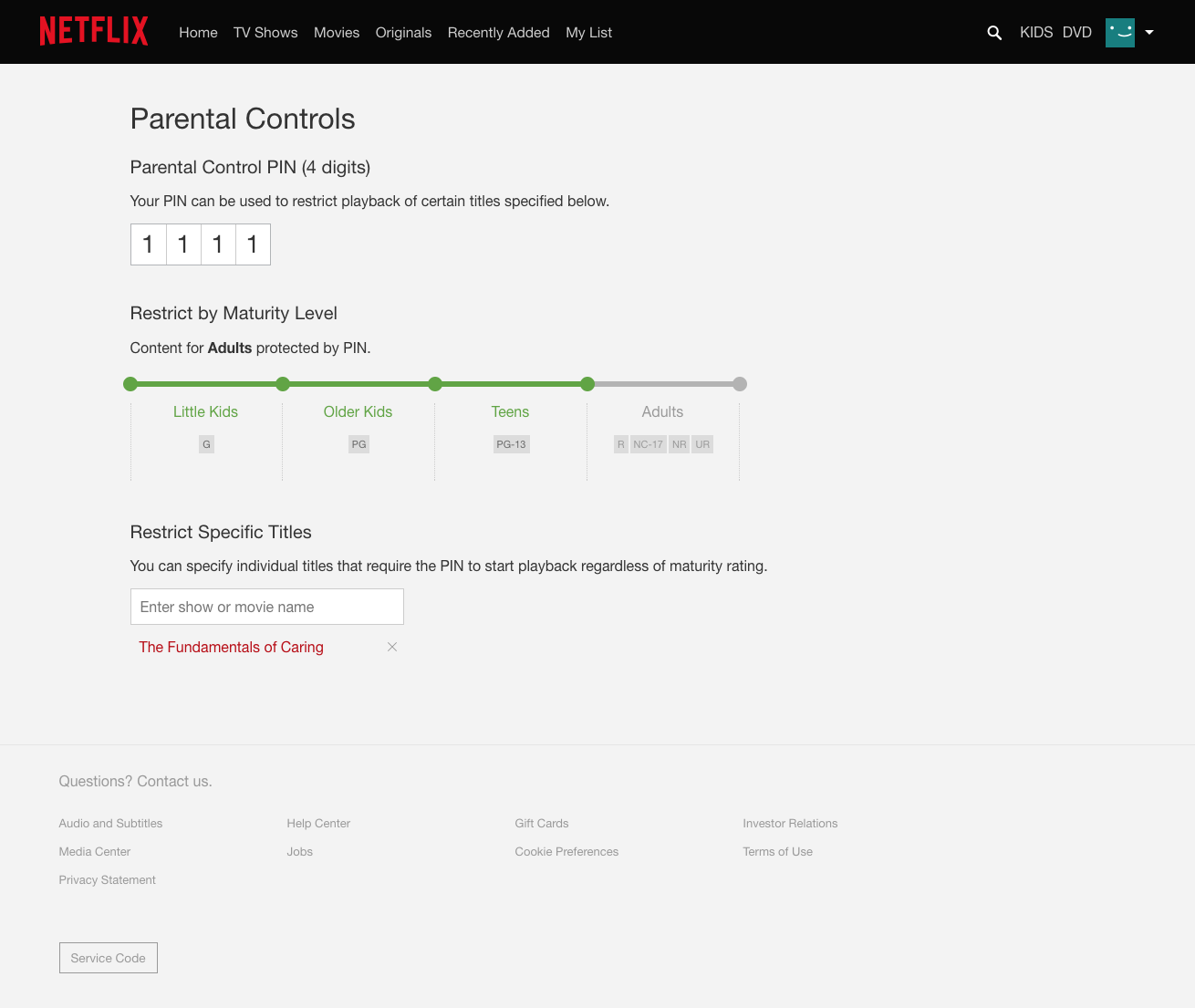 How to set netflix parental controls