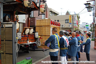 Photo: 【平成19年(2007)宵宮】 山車の運行を前にお清め。