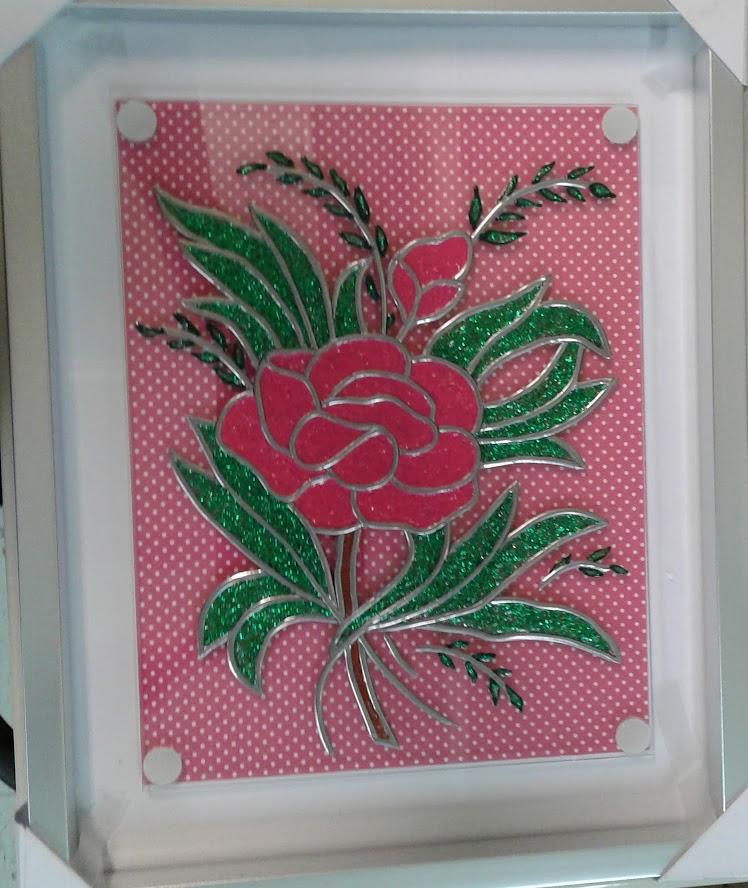 Rose en faux-vitrail