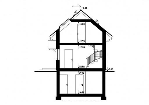G320 - Budynek rekreacji indywidualnej - Przekrój