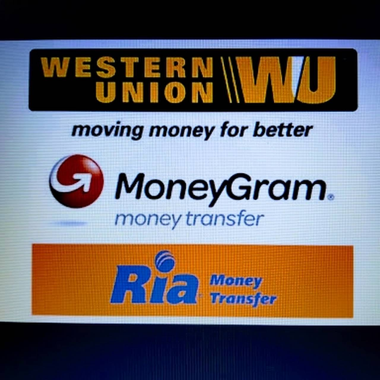 Western Union Moneygram Ria Quick