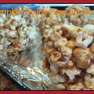 Pumpkin Spice Popcorn Balls
