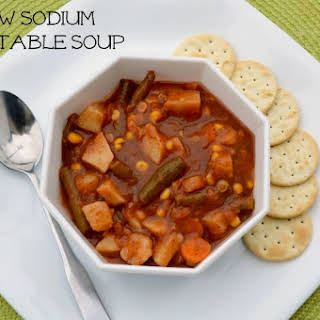Vegan Vegetable Soup {Low Sodium}.