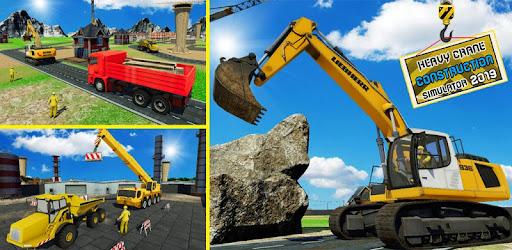 Heavy Excavator Construction Crane Simulator 2019