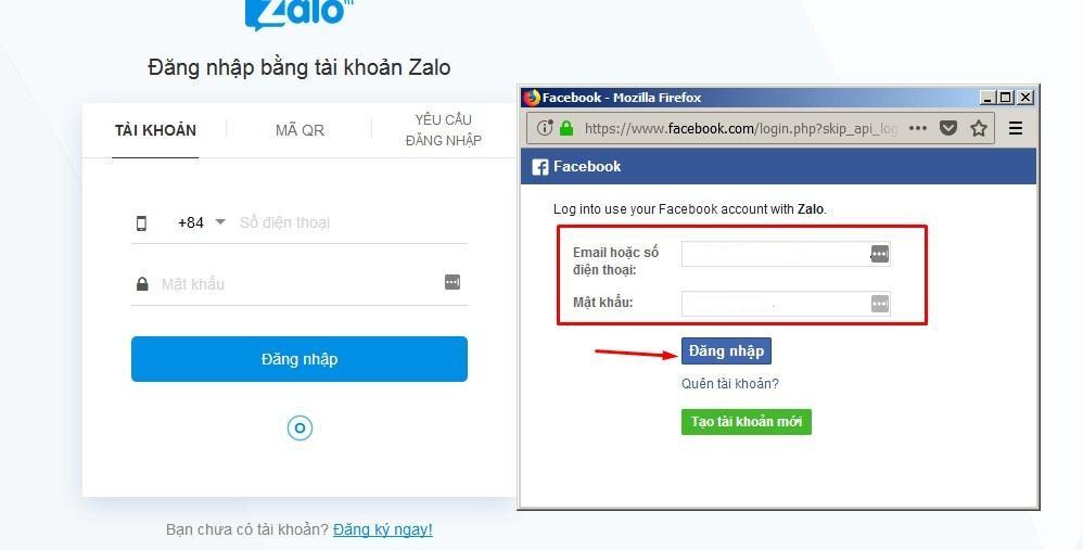 Đăng nhập bằng Facebook của bạn