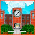School and neighborhood craft maps icon