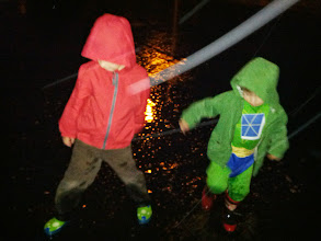 Photo: Are They Human? Or Are They Dancers? (Clark and Finn in The Rain)