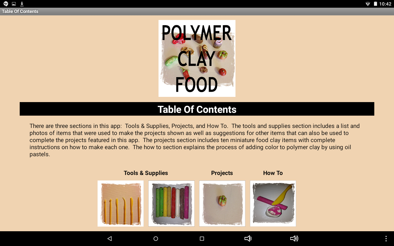 Polymer Clay Food- screenshot