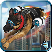 Futuristic Flying Police Dog