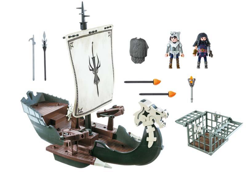 Contenido Real de Playmobil® Barco de Drago