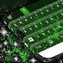 绿色的花键盘 icon